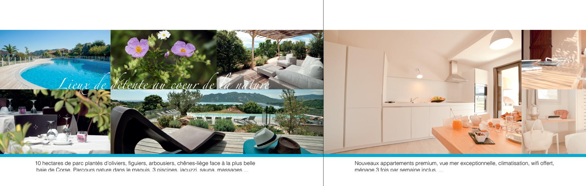 Brochure en 3 volets - Graphisme pour hôtels indépendants de luxe