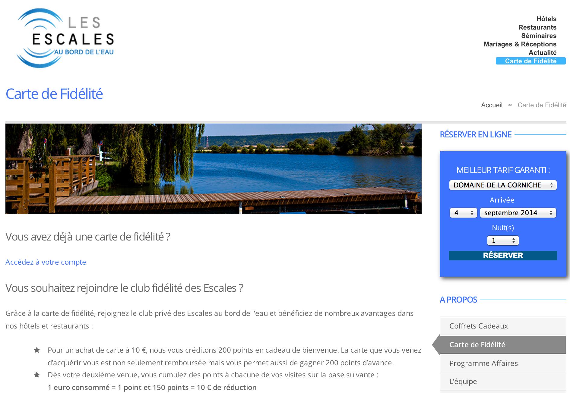 Exemple de site d'hôtel développé par PMT Hotels