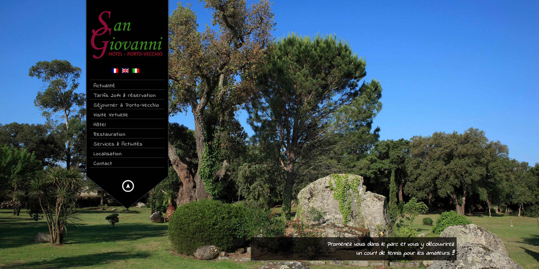Exemple de développement web pour un petit hôtel familial en Corse