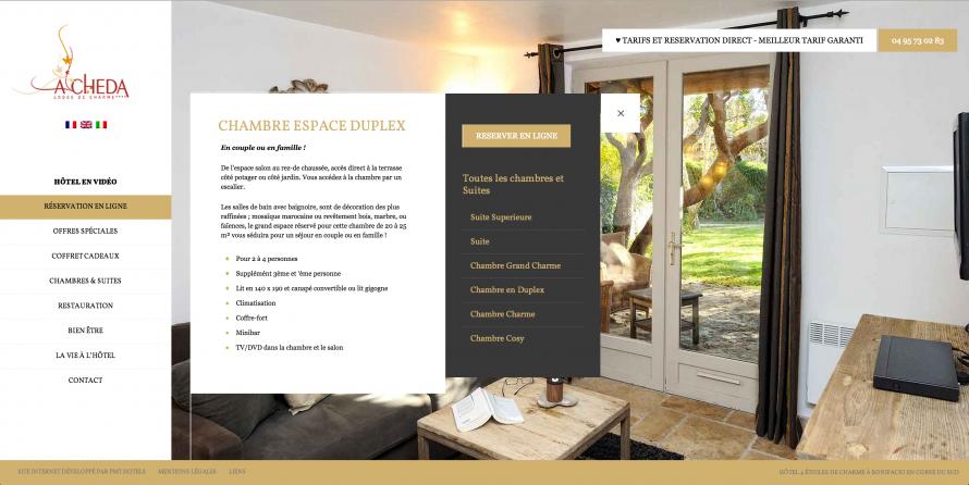 developpement de site dynamique pour hotel