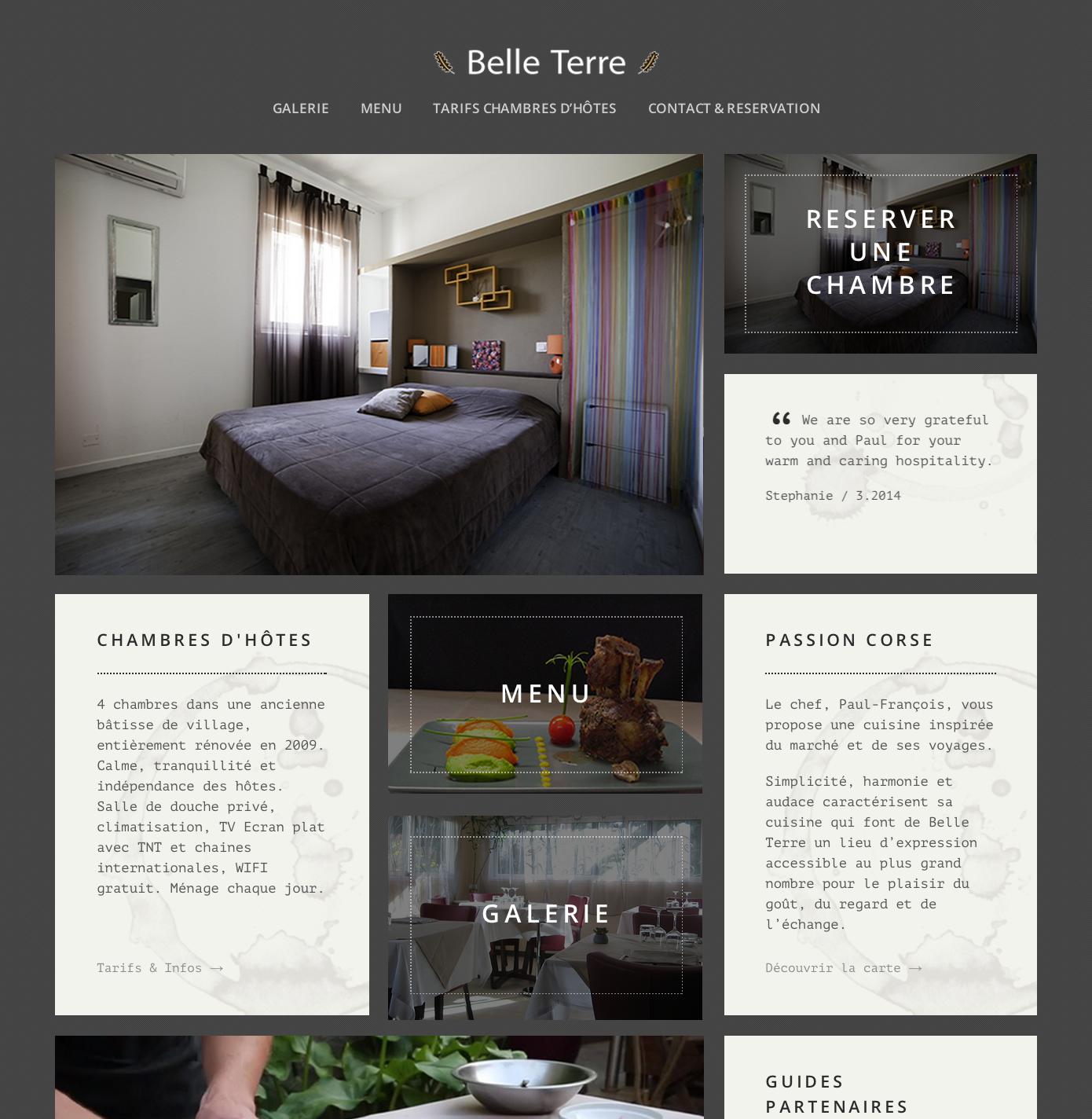 Exemple de développement de site de restaurant par PMT Hotels