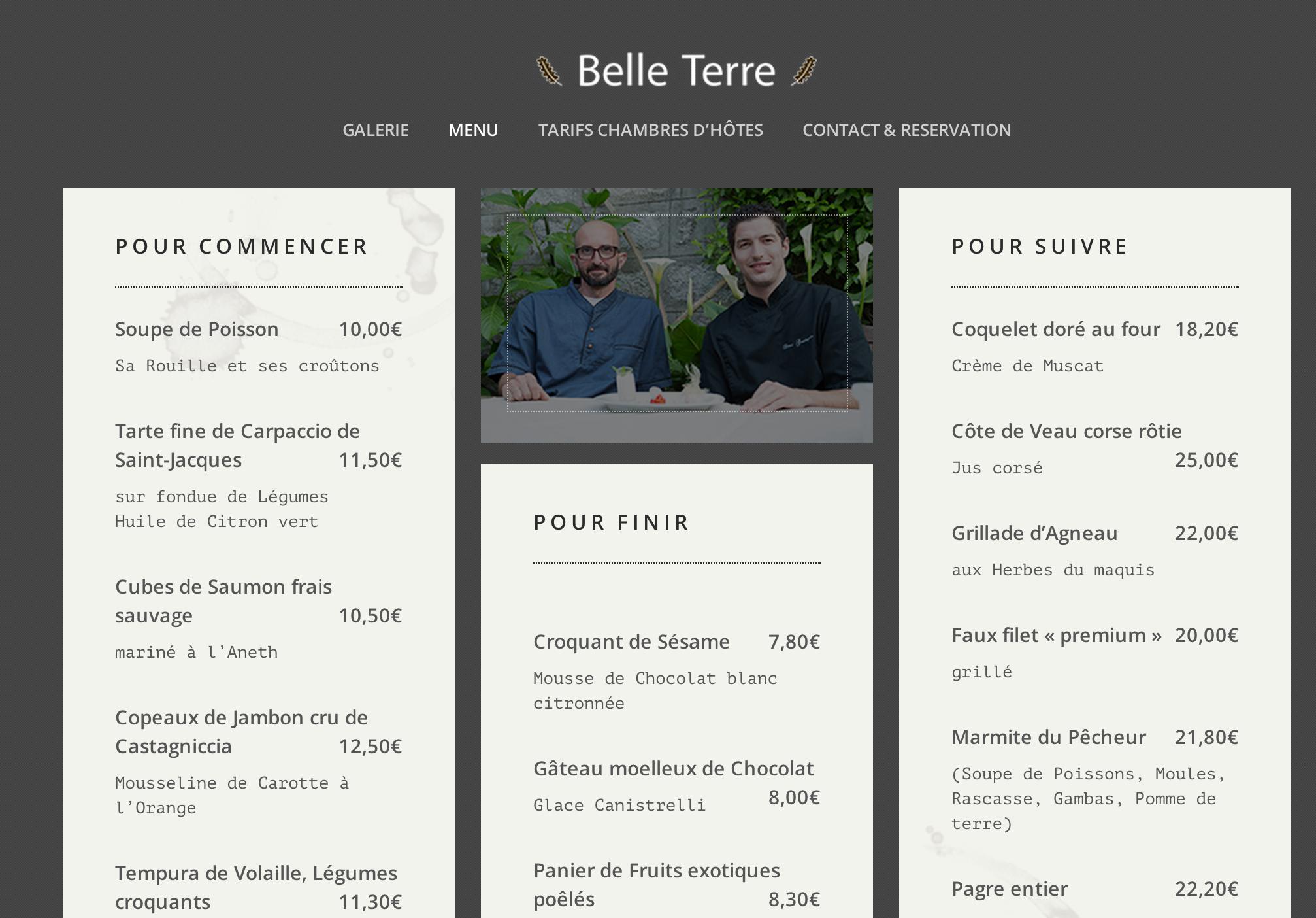 Webmaster pour restaurant et chambres d'hôtes