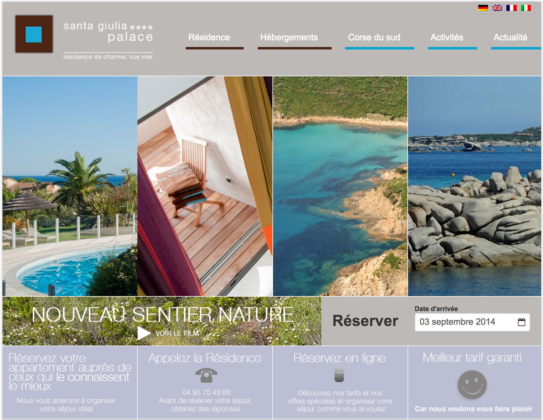 Home page - site de résidence developpé par PMT Hotels