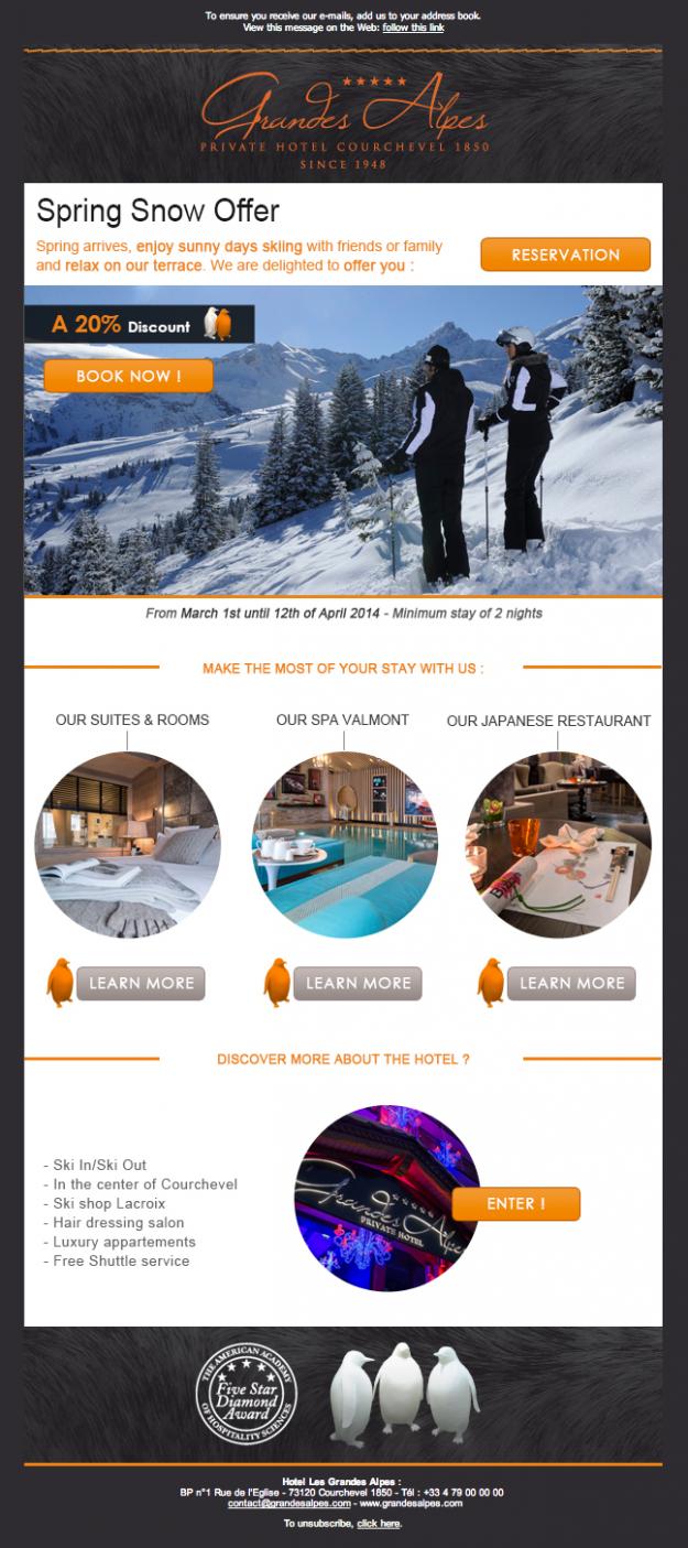 Promouvoir son hotel en moyenne saison par l'emailing