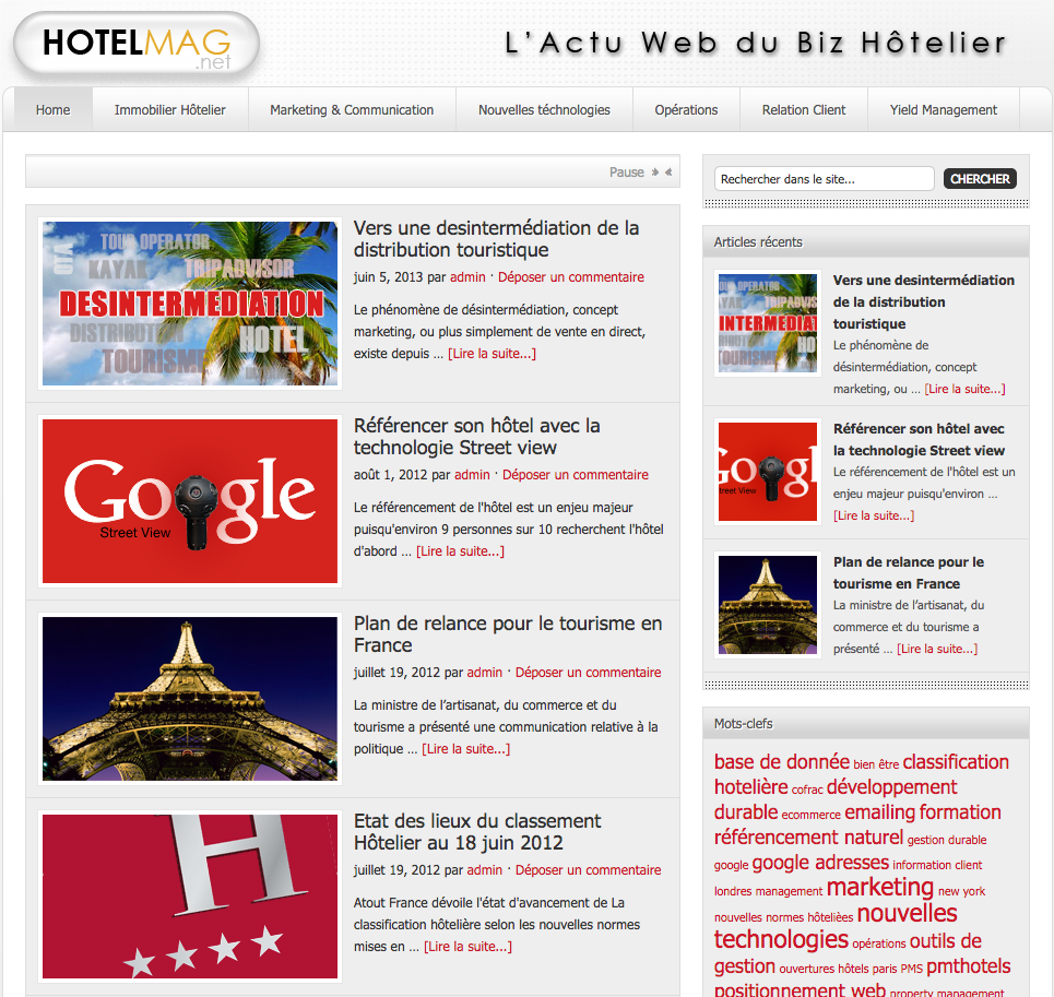 hotelmag - Blog hôtelier en yield et marketing