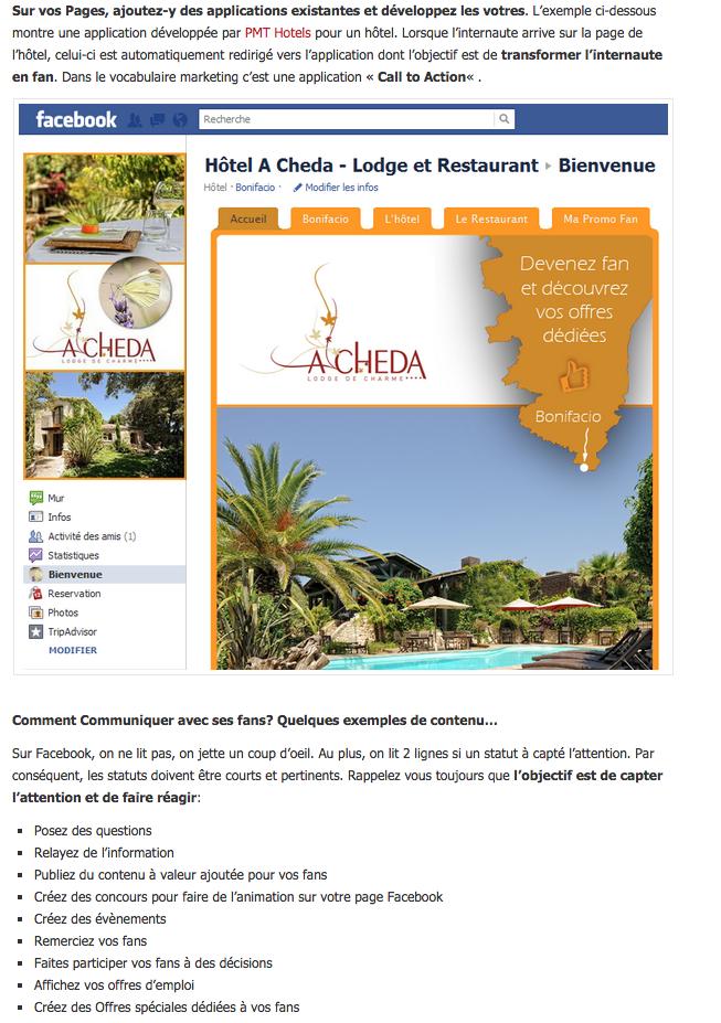 Blog avec article sur les réseaux sociaux d'hôtels indépendants