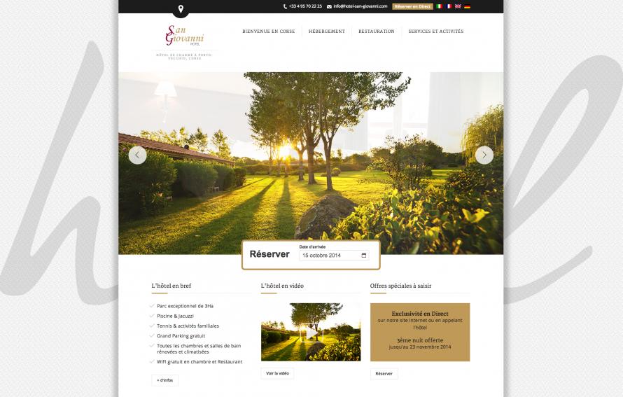 Développement de site internet pour hôtels en Corse