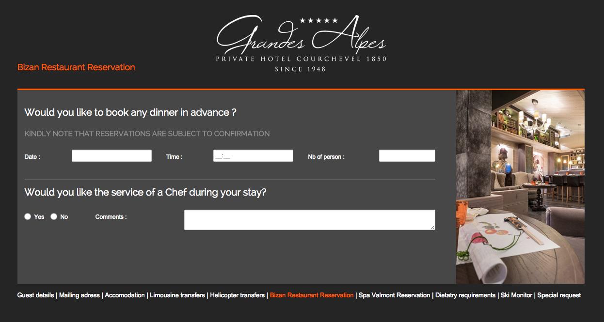 Questionnaire pré-séjour, un questionnaire pour développer le cross selling dans l'hôtel et anticiper les demandes des clients. Une démarche qualitative pour hôtels de luxe